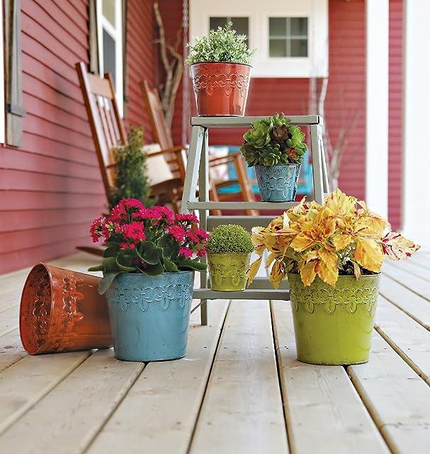 marvelous robert allen home and garden. Amazon com  Robert Allen Home Garden MPT01893 Fluer De Lis Bowl Planter 8 Surf Outdoor