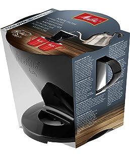 Melitta Porte-Filtre, Pour Filtre à Café 1x4, Compatible avec 1 Verseuse ou 2 Tasses, Plastique, Pour Over, Noir