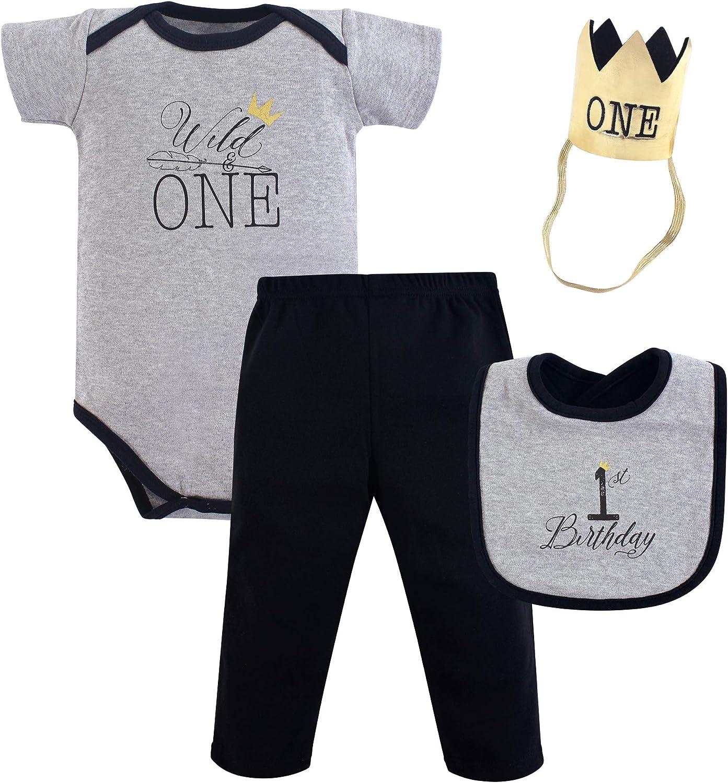 Hudson Baby baby girls Birthday Boxed Giftset Layette Set, Wild One, 12 Months US