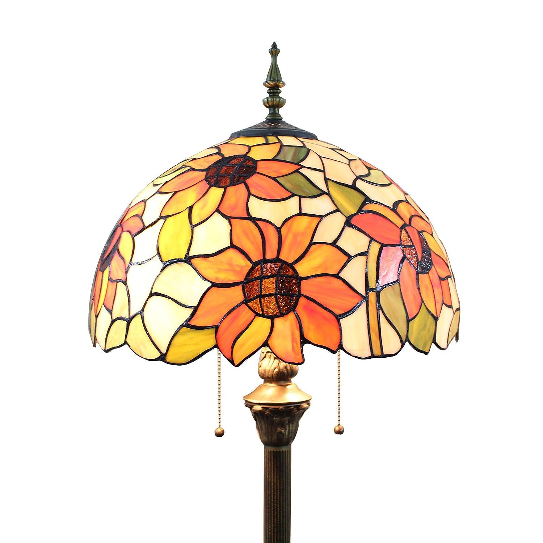 Gweat 16-Inch Pastoral Sunflower tiffany Floor Lamp Bedroom Lamp Living Room lamp