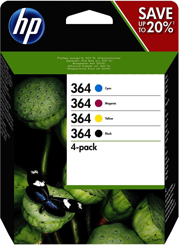 HP Tinta Original Nº364 Color Y Black N9J73AE Pack 4 Unidades para HP PHOTOSMART D5460: Amazon.es: Electrónica