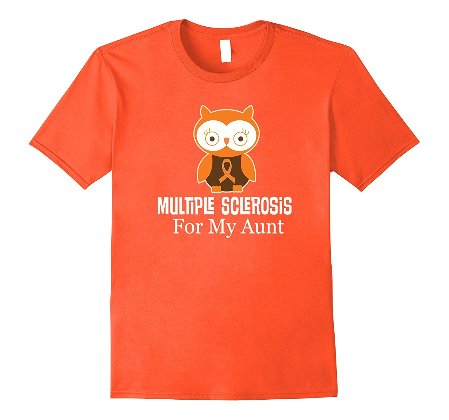 Multiple Sclerosis For My Aunt Awareness Owl T-shirt-TH