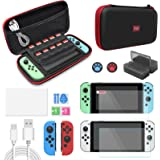Accessories Kit Bundle for Switch OLED, 12 in 1 Essential Protection Kits Carrying Case for Nintendo Switch OLED Model 2021,
