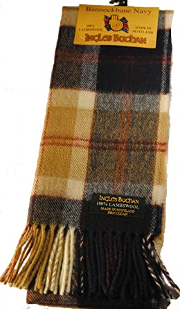 Terrapin Trading 100% lambswool Made in Écharpe Ecosse en Bannockburn  écossaise Tartan 55 inche 6215e31695a