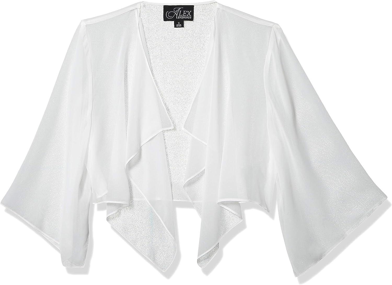 Alex Evenings Womens Chiffon Hanky Short Bolero Jacket