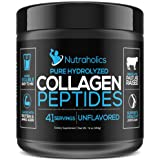 Collagen Peptides Hydrolyzed Protein Powder | Pasture Raised Grass Fed | Certified Paleo & Keto Friendly | 11 Grams per Serving | 16 OZ. Bottle | Unflavored