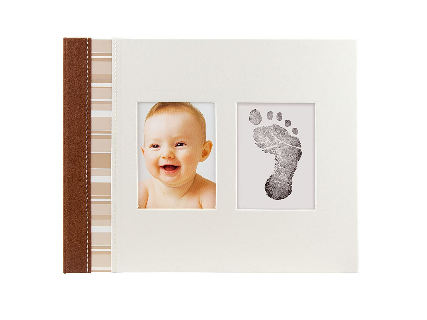 Pear Head-Pearhead Babyprints Babybook, Ivory 35031