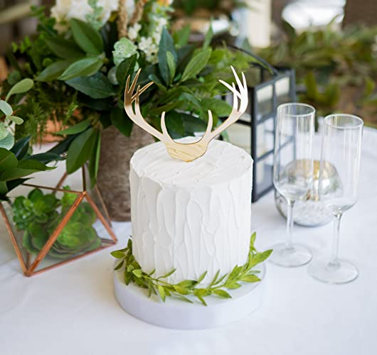 Amazon Com Boho Antler Wedding Cake Topper For Wedding Country