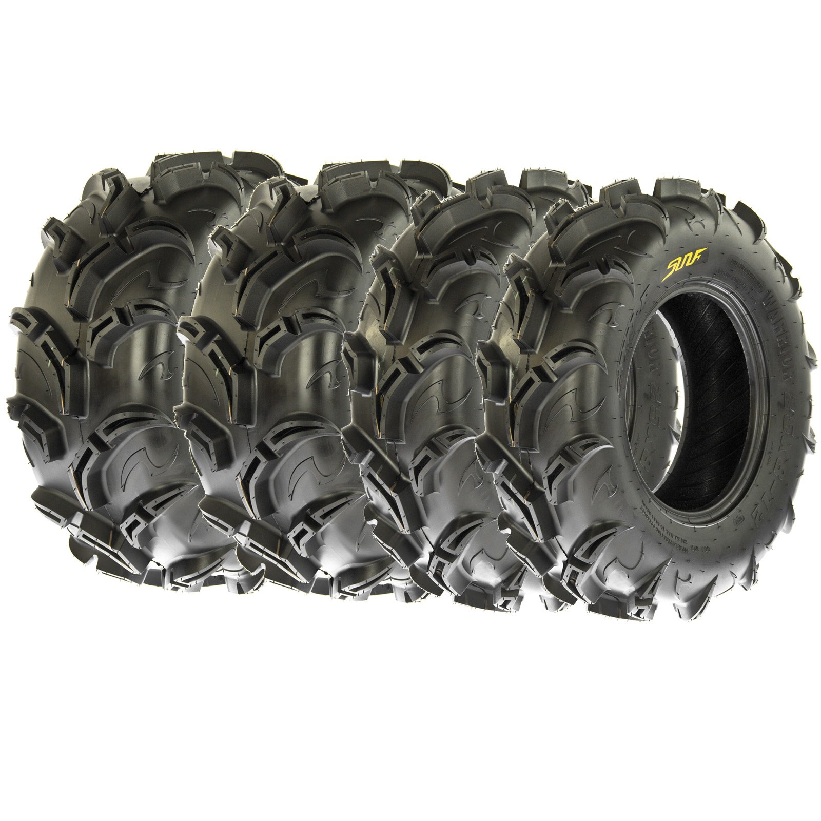 SunF Warrior AT-Mud & Trail ATV/UTV Off-Road Tires (26x9-12 Front & 26x11-12 Rear) , 6 PR (Full Set of 4)|A048
