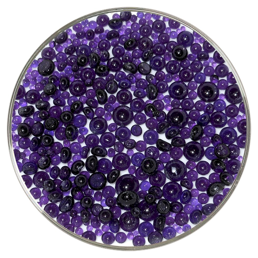 Violet Transparent Frit Balls - 90COE, New Larger 1oz Size - Made from Bullseye Glass New Hampshire Craftworks