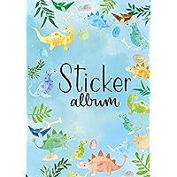 Avery Zweckform 57793 Stickeralbum Dino, stickerboek, leeg plakboek, plakboek voor kinderen, A5-formaat, 16 pagina's, 1…