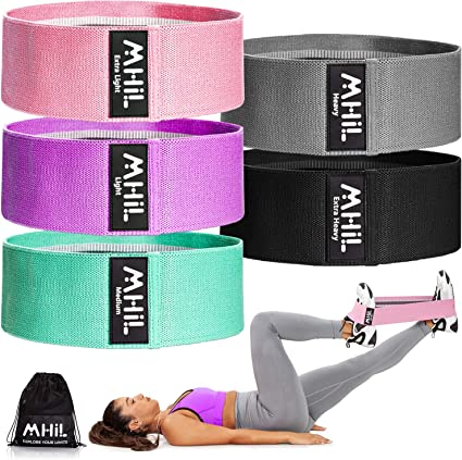 Resistance Bands Loop Exercise Bands Workout Bands Resistance for Women Fabric Resistance Bands Set Booty Bands for Working out Elastic Bands for Exercise Bands for Working out Hip Bands Workout