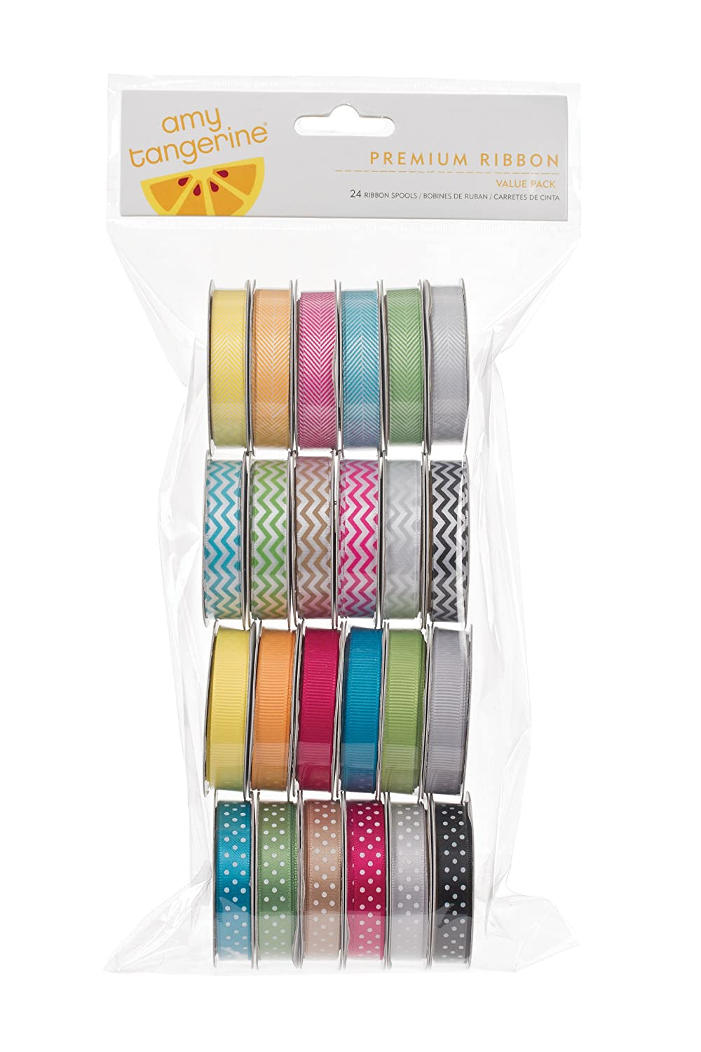 American Crafts 24-Pack Amy Tangerine Sketchbook Premium Ribbon