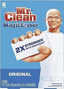 Mr. Clean Magic Eraser Original, Cleaning Pads with Durafoam, 6 Count