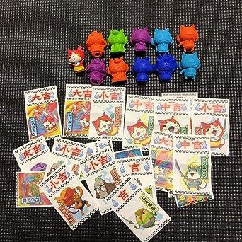 Amazoncojp 妖怪ウォッチ 消しゴム 5種類 彩色フィギュア ジバニャン