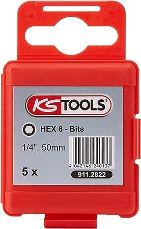 """911.2801 KS Tools 1//4/"""" Bit Innen6kant,50mm,1,5mm,5er Pack"""