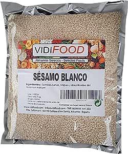 Semillas De Sésamo Blanco - 1kg - Condimento Con Sabor A Nueces Para Platos Cetogénicos Y Veganos - Semillas Crujientes Y Sabrosas: Amazon.es: Alimentación y bebidas