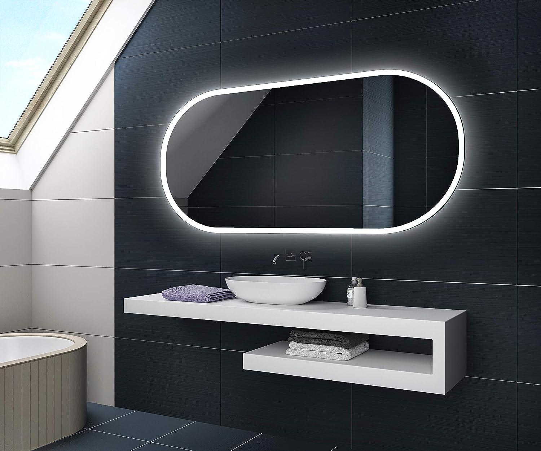 sur Mesure avec Interrupteur au Choix et Accessoires L75 FORAM Personnaliser Moderne Illumination LED Miroir
