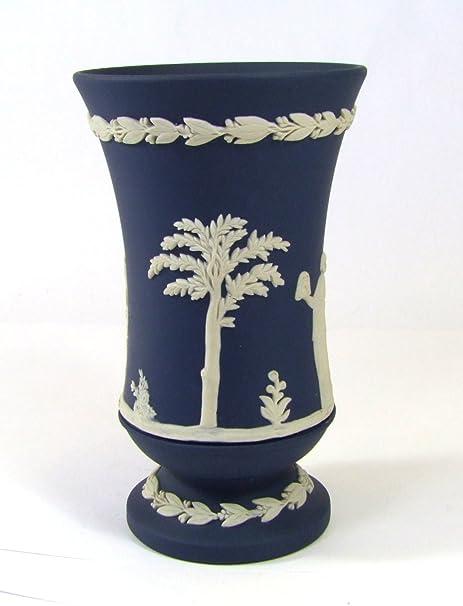Wedgwood Dark Blue And White Jasperware Vase Amazon Kitchen