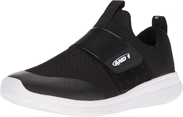 AND 1 Men's Downtown Basketball Shoe, Black/White/Black, 13 M US