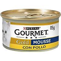 Gourmet Gold Mousse con Pollo Delicada 85 g, 24 Piezas