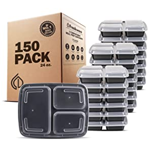 Freshware YH-3X150B Meal Prep Containers childrens-lunch-boxes 24 oz 150-Pack New