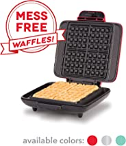 DASH No Mess Belgian Waffle Maker: Waffle Iron 1200W + Waffle Maker Machine For Waffles, Hash Browns, or Any Breakfast, Lunch