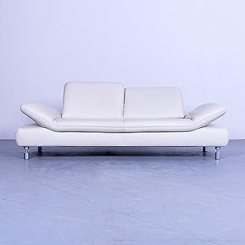 koinor Rivoli Diseñador Sofá piel color blanco crema tres ...