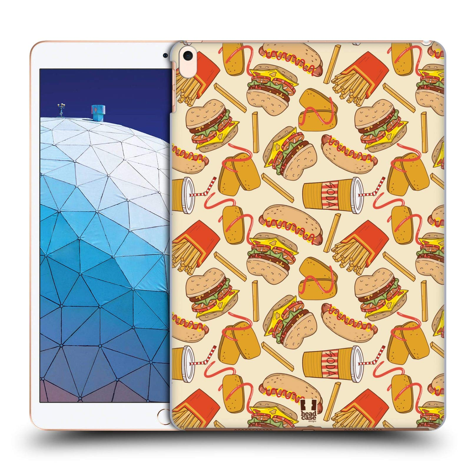 Head Case Designs Burger and Fries Fast Food Patterns Hard Back Case Compatible for iPad Air (2019) by Head Case Designs