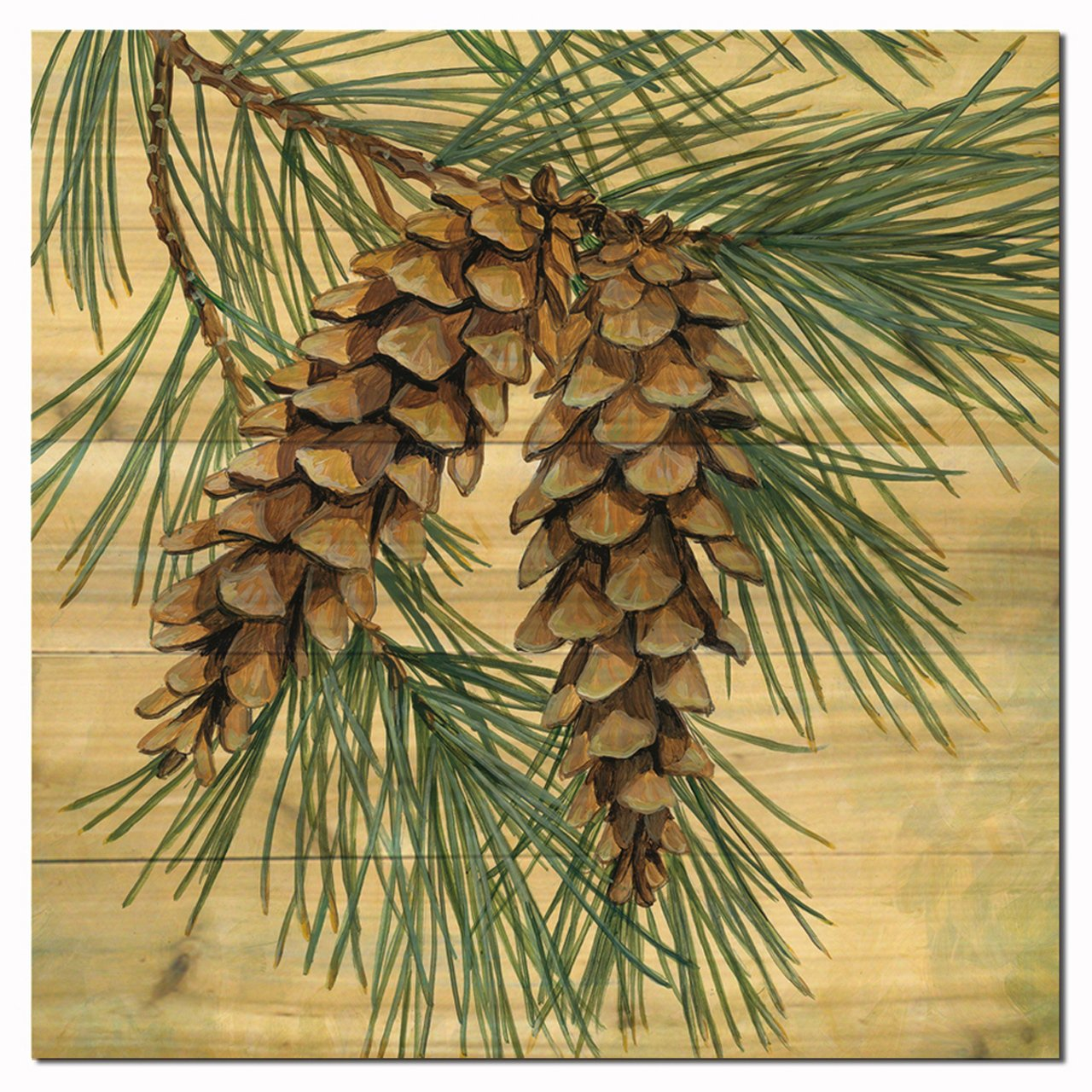 WGI-GALLERY 2424 Pine Cone Wooden Wall Art
