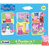 Frank  Peppa Pig - 6 In 1 Puzzle For 3 Year Old Kids And Above