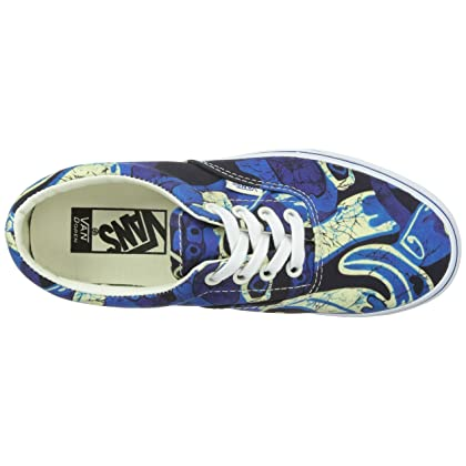 98e21896f652d1 Vans Unisex Era Doren Blue Print Sneakers Low Top Skate Shoes