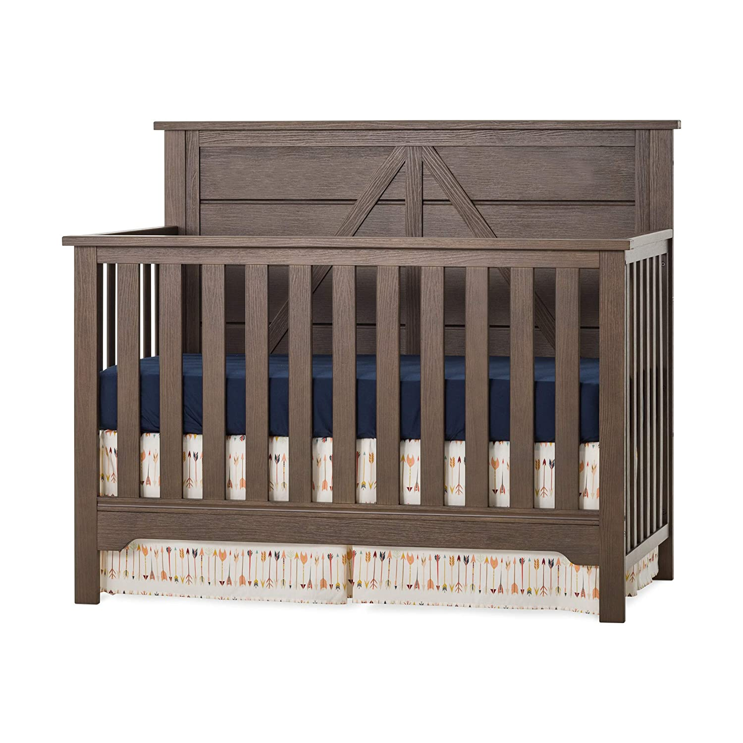 Forever Eclectic Woodland 4-in-1 Convertible Baby Crib, Brushed Truffle