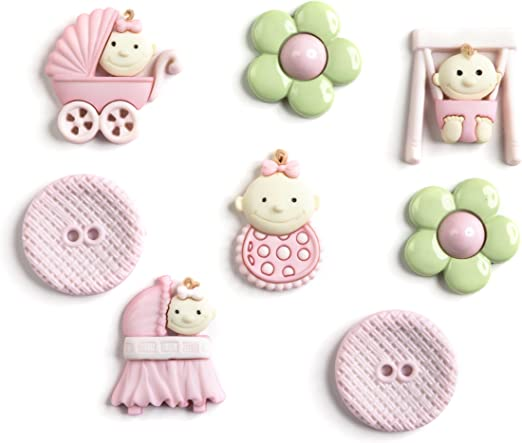 Jesse James Buttons ~ Dress It Up ~ PINK PRINCESS ~ Princess Sewing Craft