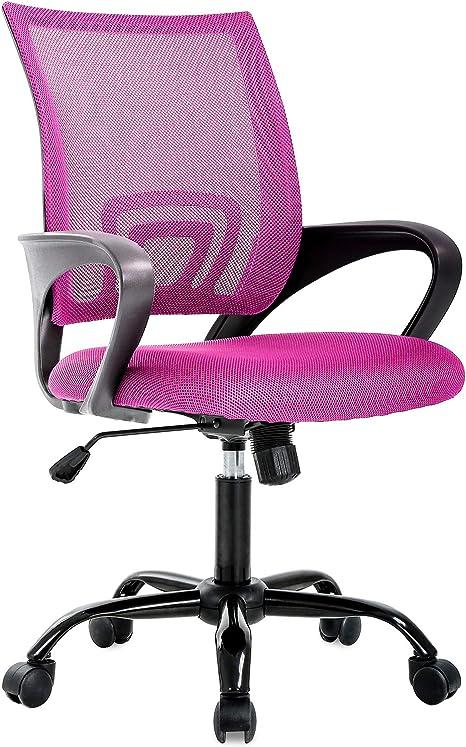 Amazon Com Ergonomic Office Chair Cheap Desk Chair Mesh Computer Chair Back Support Modern Executive Chair Task Rolling Swivel Chair For Women Men Pink Furniture Decor