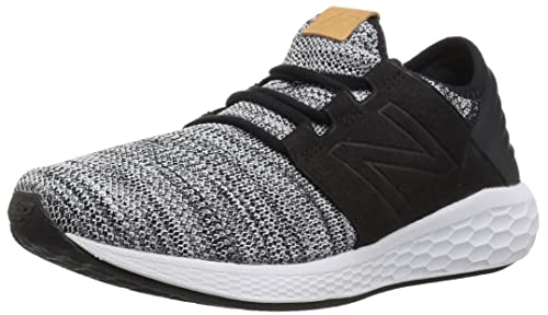 cf10e434cc0c2 new balance Men s Fresh Foam Cruz v2 Knit White Black Running Shoes-10 UK