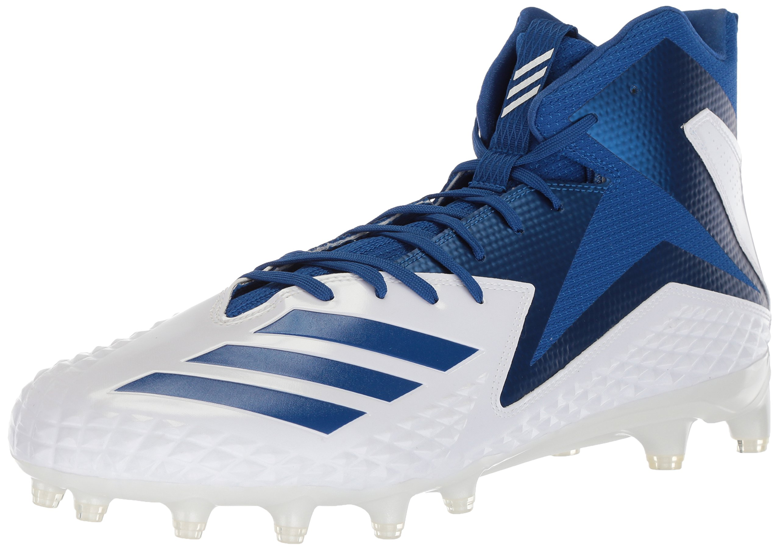 adidas Men's Freak X Carbon Mid Football Shoe, White/Collegiate Royal/Collegiate Royal, 13 M US