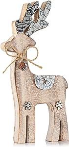 Zilo Novelties Reindeer Decor | Holiday Display Set for Mantle, Centerpiece or Table (Medium)