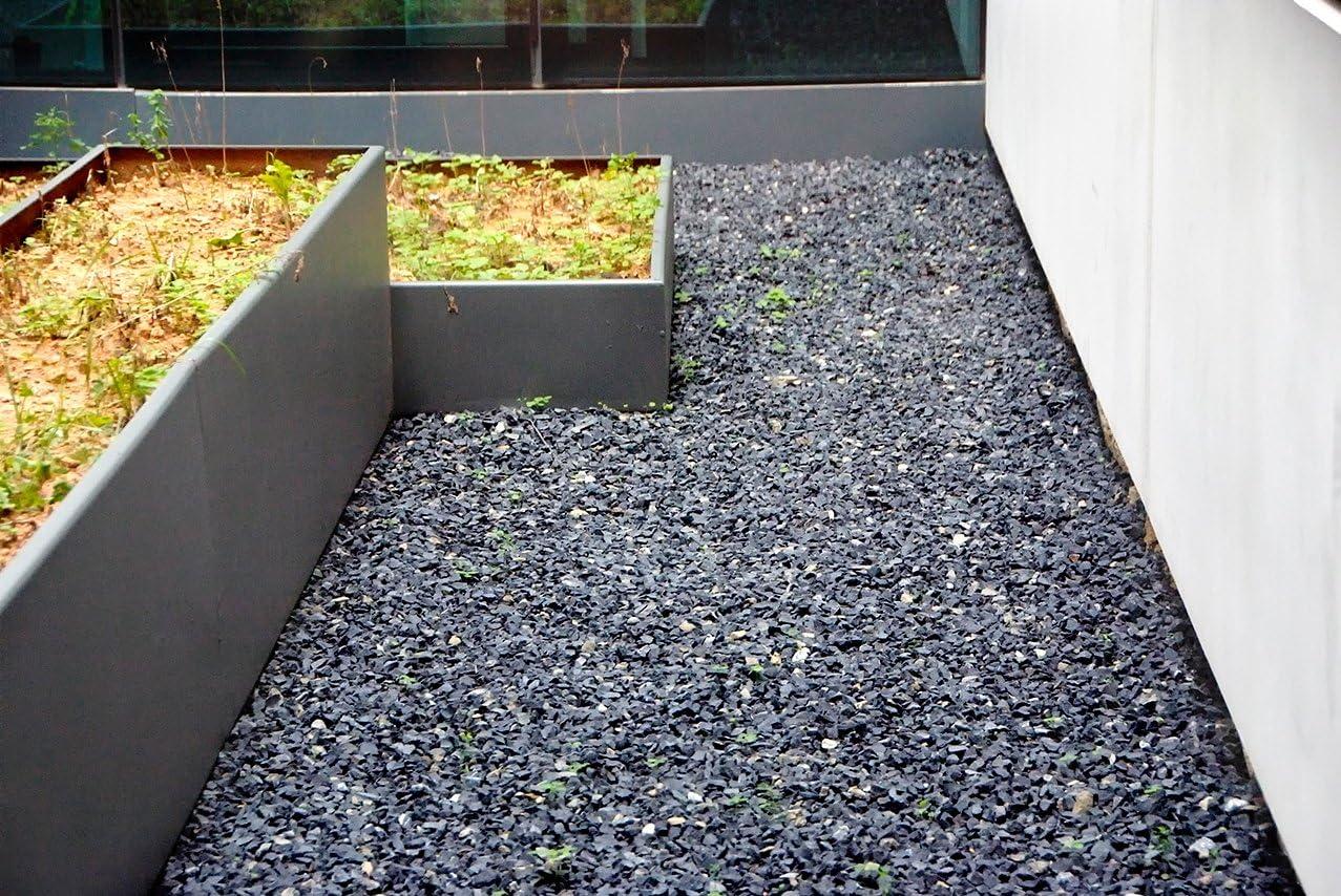 Piedra negra jardin (1000 kg, 6-12 mm): Amazon.es: Jardín