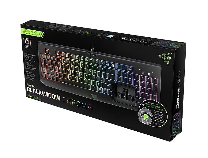 Razer BlackWidow Chroma Clicky Mechanical Gaming Keyboard - Fully Programmable and 5 Macro Keys(Versin EE.UU., importado): Amazon.es: Informática