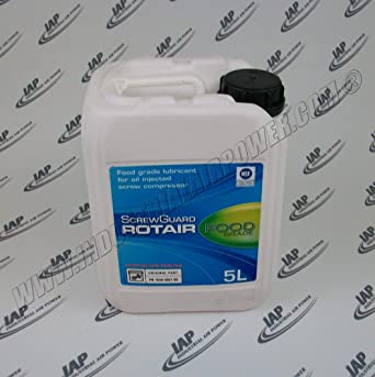 1630-0821-00 aceite Rotair grado alimenticio 5L – Diseñado para uso con compresores
