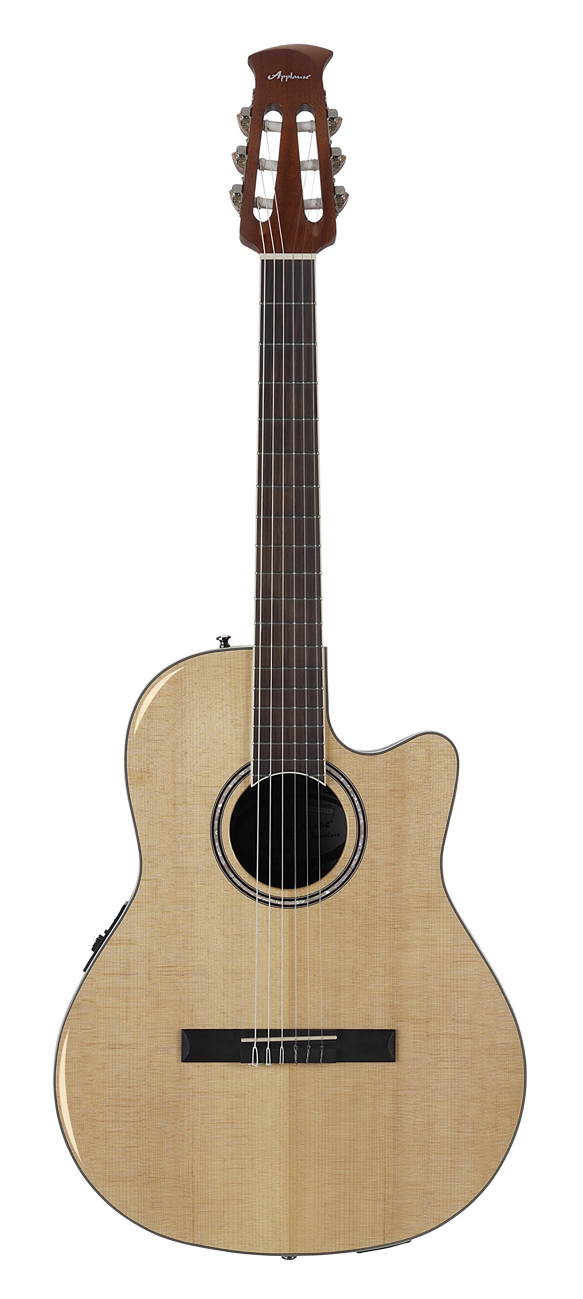 Ovation Guitar Applause Balladeer Plus Spruce Top Acoustic Electric Nylon String by Ovation