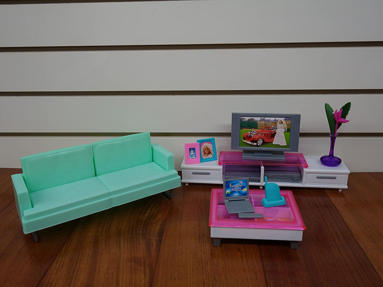 amazoncom barbie size dollhouse furniture family room toys games amazoncom barbie size dollhouse