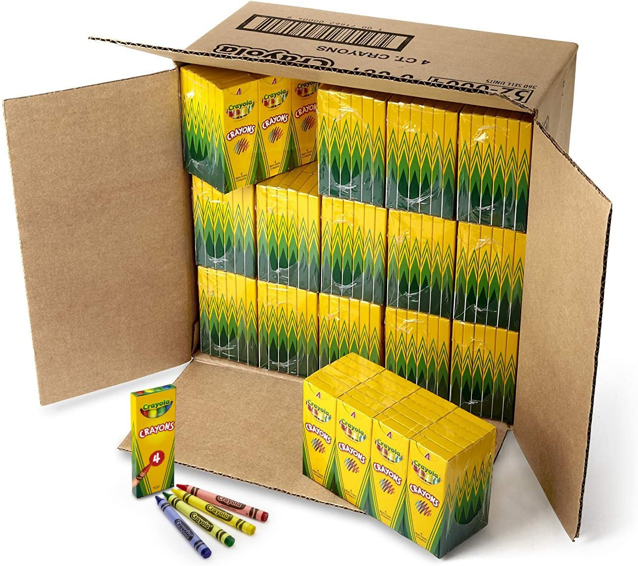 4 Assorted Colours Per Pack Crayons... THE TWIDDLERS Bulk 50pcs Wax Crayons