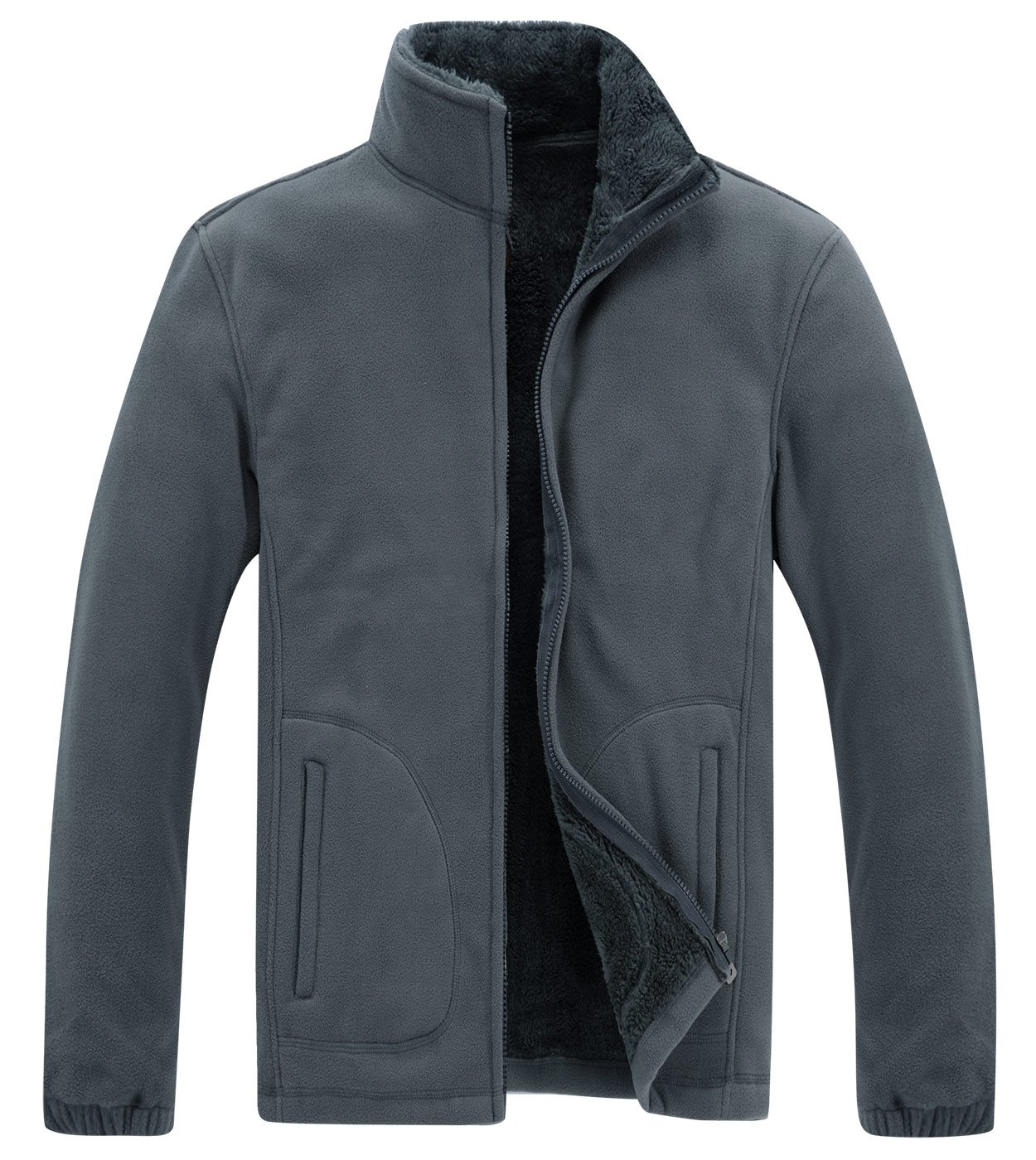 847e8e2bb0f Amazon.com  Panegy Mens Fleece Jackets Full Zip Up Winter Warm Thermal Coats  Outdoors Sports Wear  Sports   Outdoors
