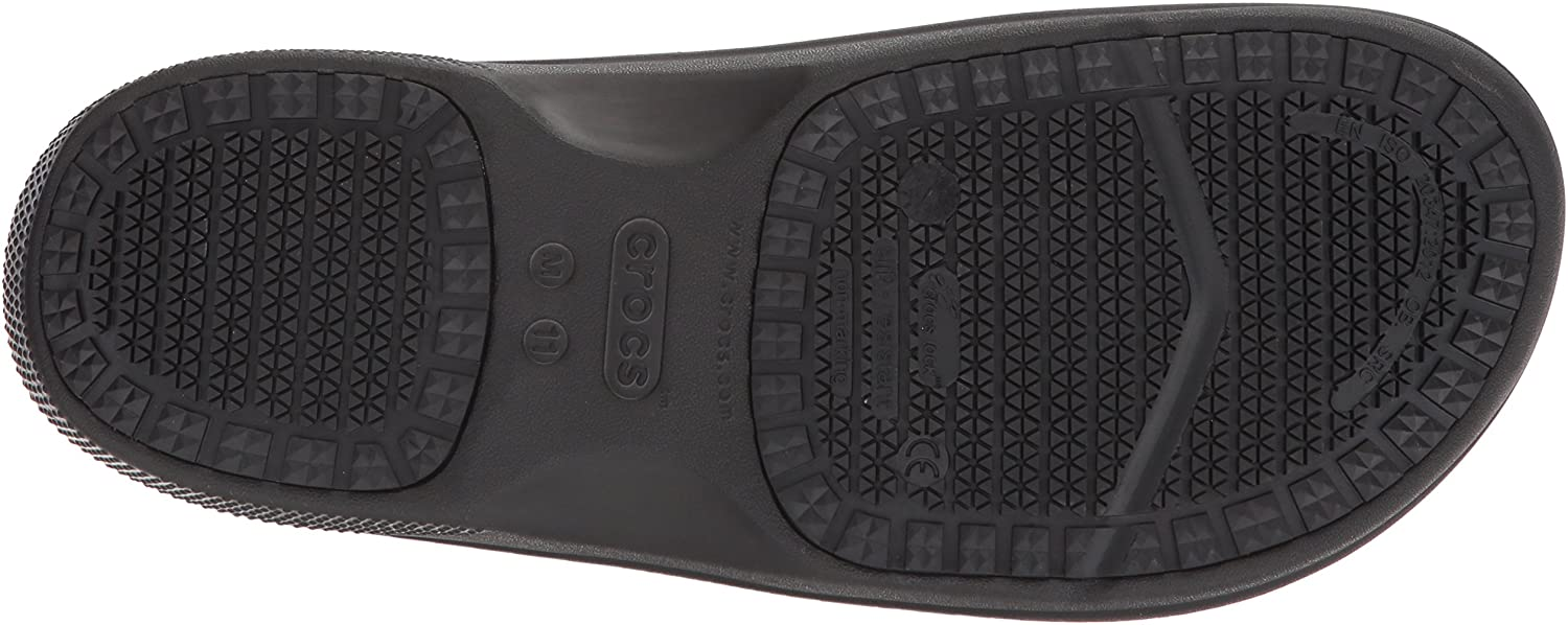 Crocs Men's and Women's On The Clock Clog | Slip Resistant Work Shoes: Shoes