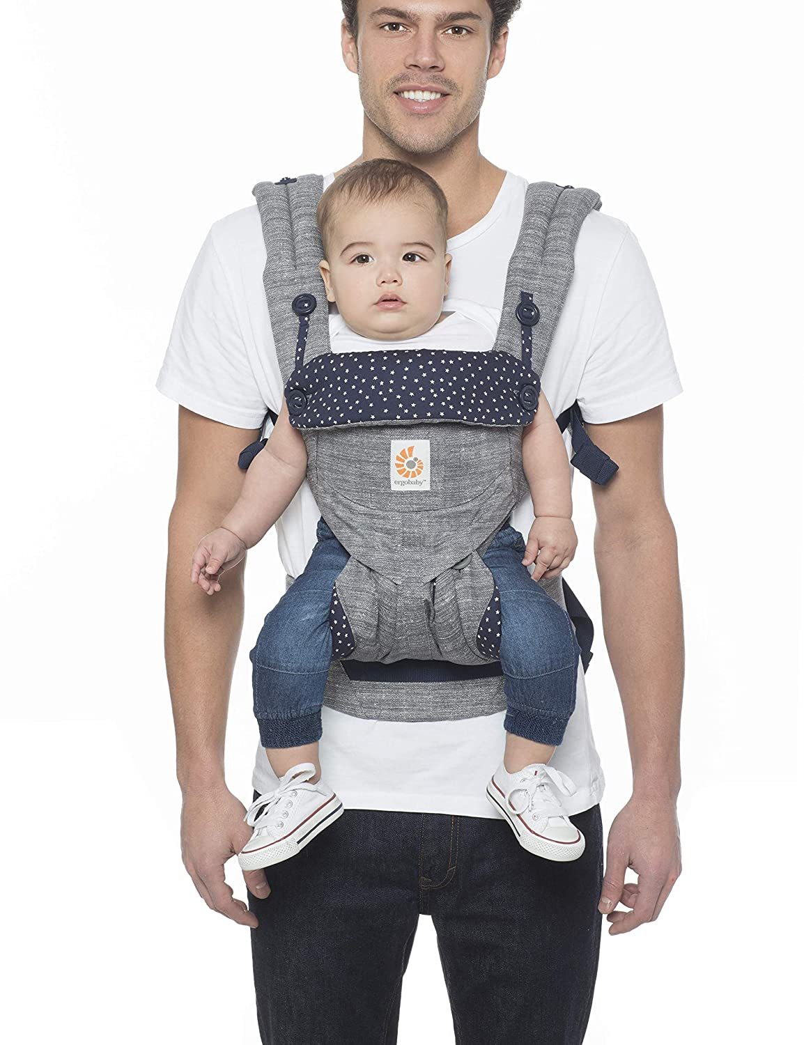 Ergobaby 360 All Position Baby Carrier With Lumbar Support 12 45 Pounds Star Dust Baby
