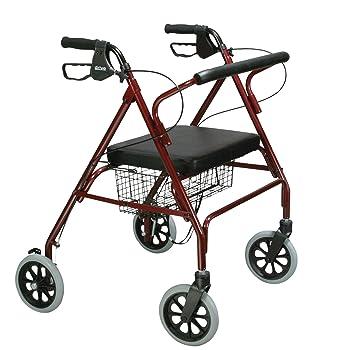 Andador plegable ligero Rollator para discapacitados andador con ruedas 6 PVC