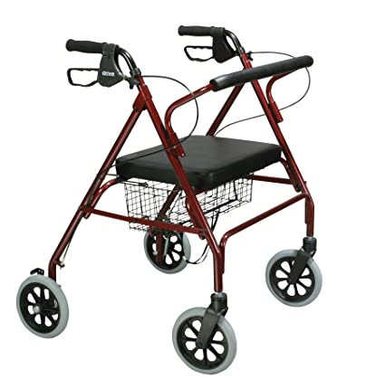 Deambulatore Pieghevole Leggero Rollator Per Disabili Girello Ruote