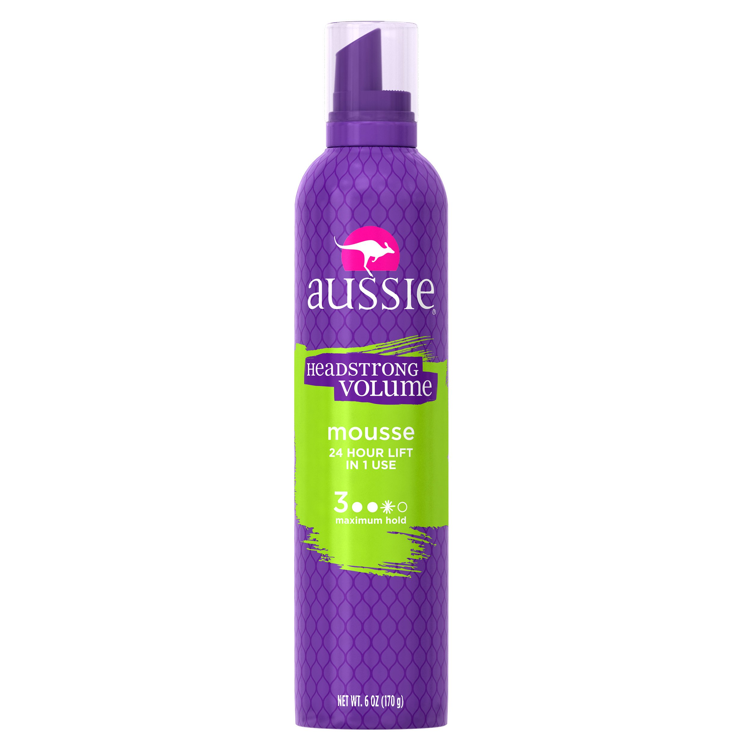 Aussie Headstrong Volume Mousse Maximum Hold 6 oz (Pack of 12)